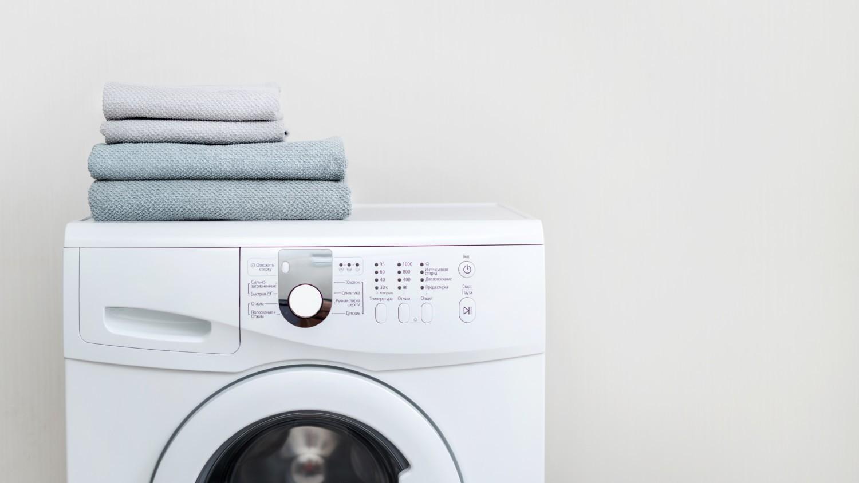 Tvättmaskin med handdukar