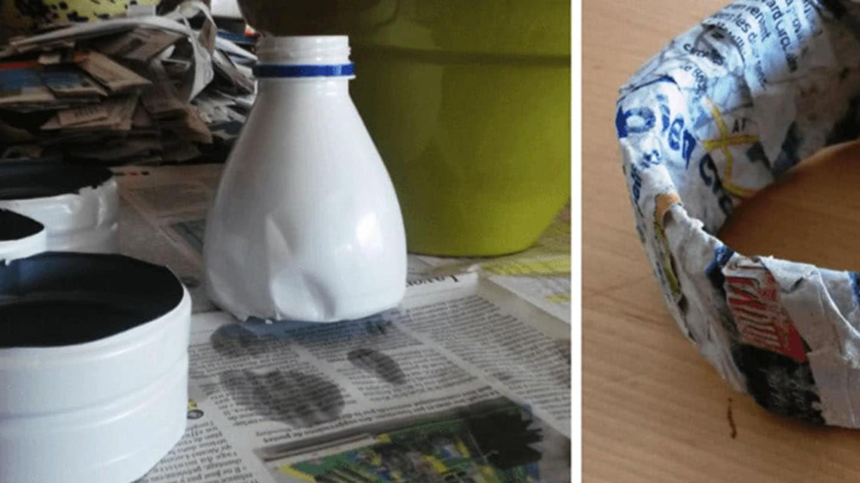 Pappersmasker på ett bord